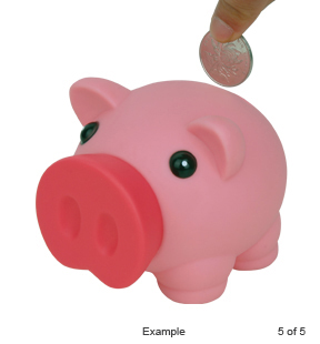 Rubber Piggy Bank (AB7001) - Click Image to Close