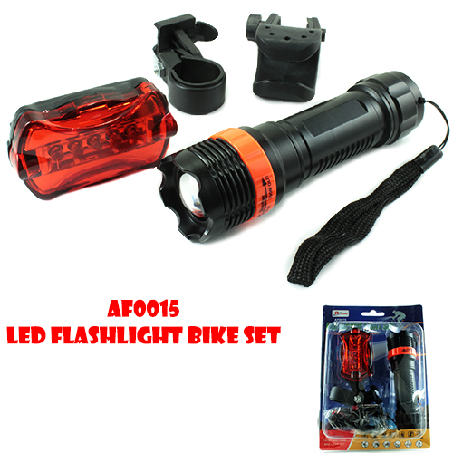 LED Flashlight Bicycle Light Set (AF0015)