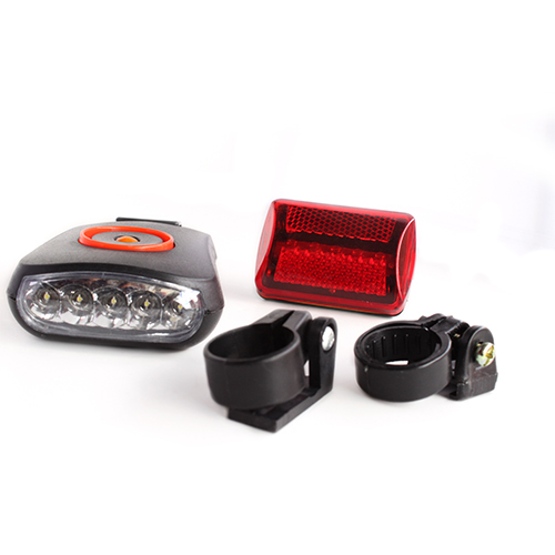 5 LED Flat Head Bike Light w/ back reflector AF1002