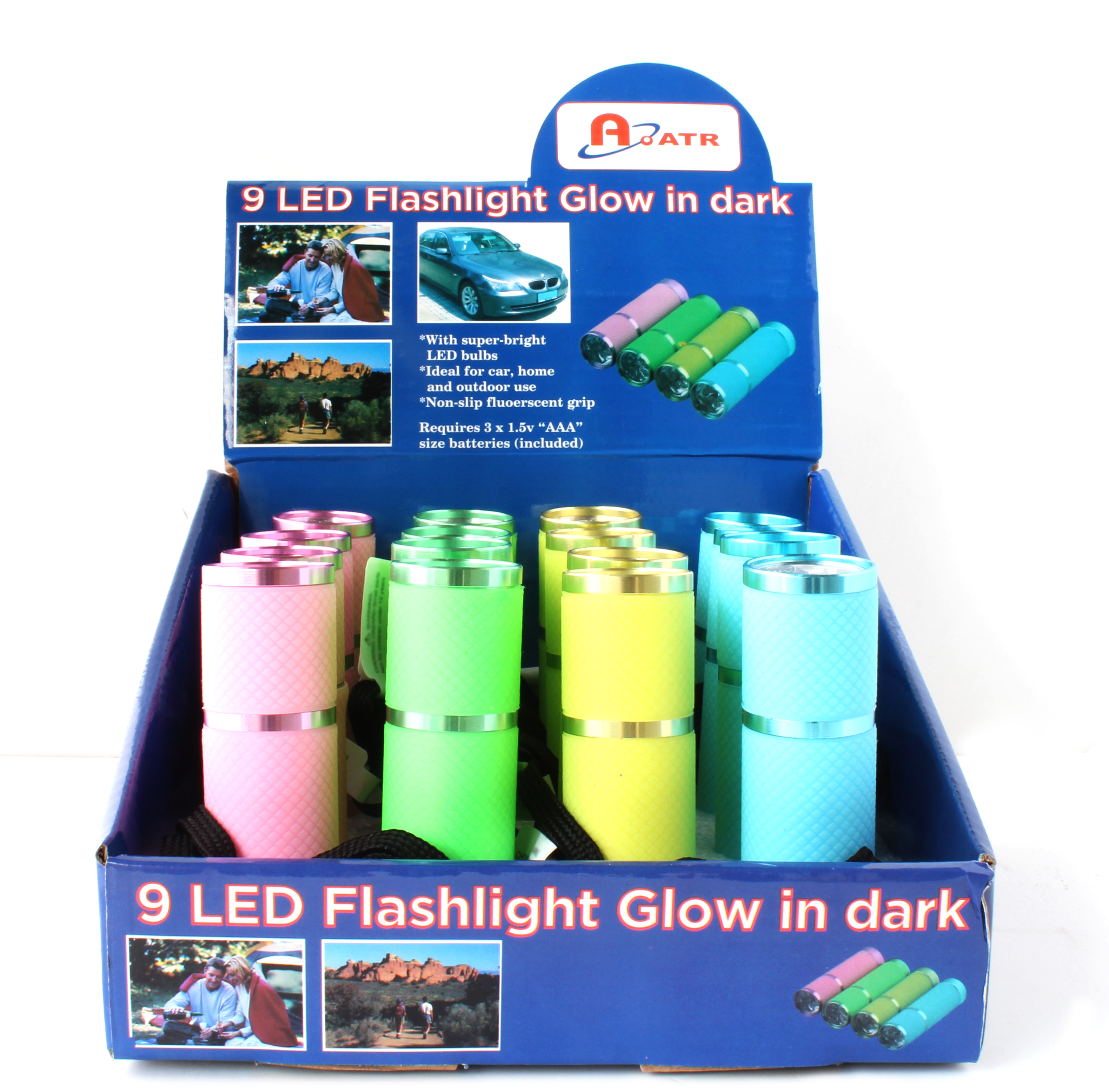 9 LED Glow-in-the-dark Flashlight
