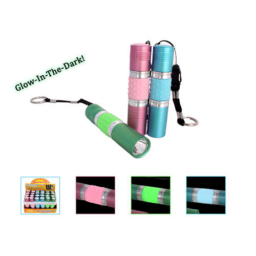 Glow-In-Dark Flashlight with Lanyard (AF3025)