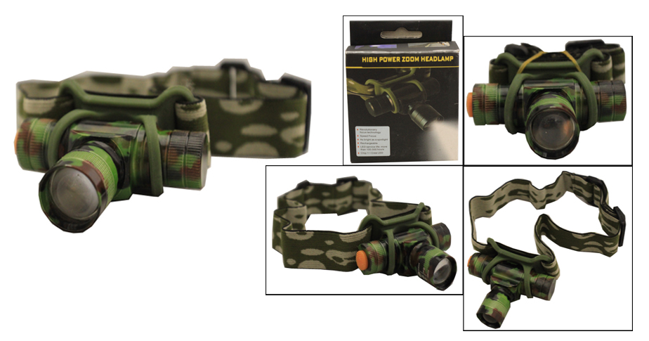 1 LED Mini Zoom Camo Headlamp (AF3038)