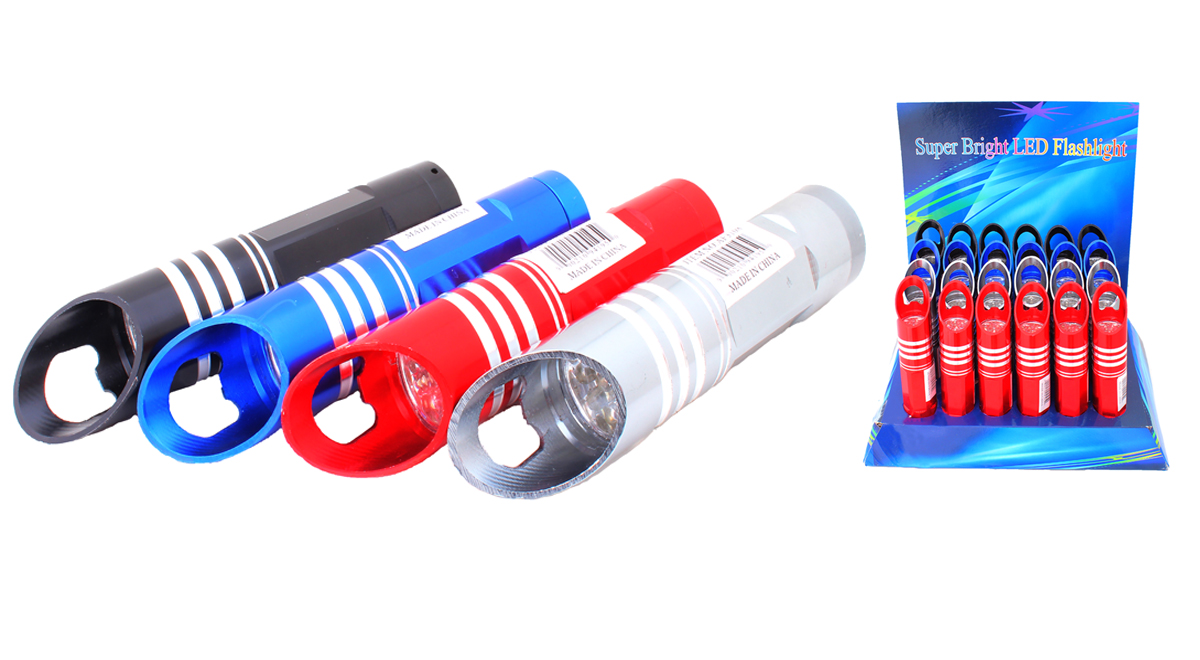9 LED Flashlight and Bottle Opener (AF3108)