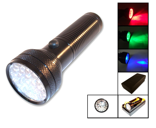 28 LED Flashlight(UV, Green LED, Red LED) / AF6001