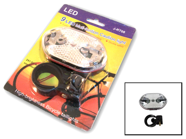 9 LED Rear Warning Bike Light (AF6004)
