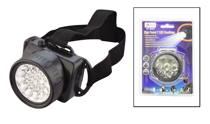 "7 ""cone head"" LED headlamp / AF8003"