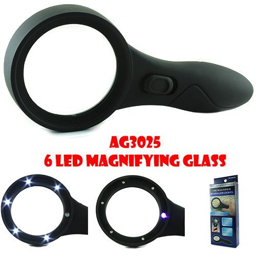 6 LED Magnifying Glass (AG3025)