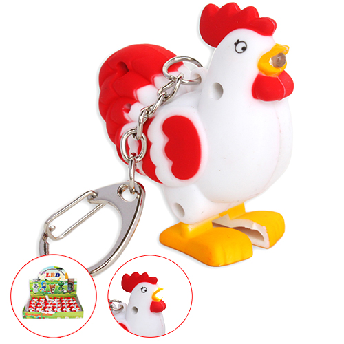 LED Rooster Keychain with sound (AN2009)