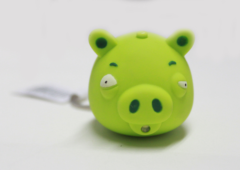 LED PIG GREEN Keychain with sound (AN2023)