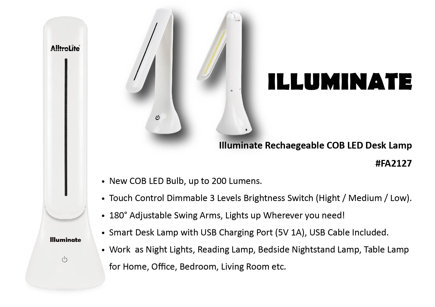 Touch On COB Desklamp (Illuminate)