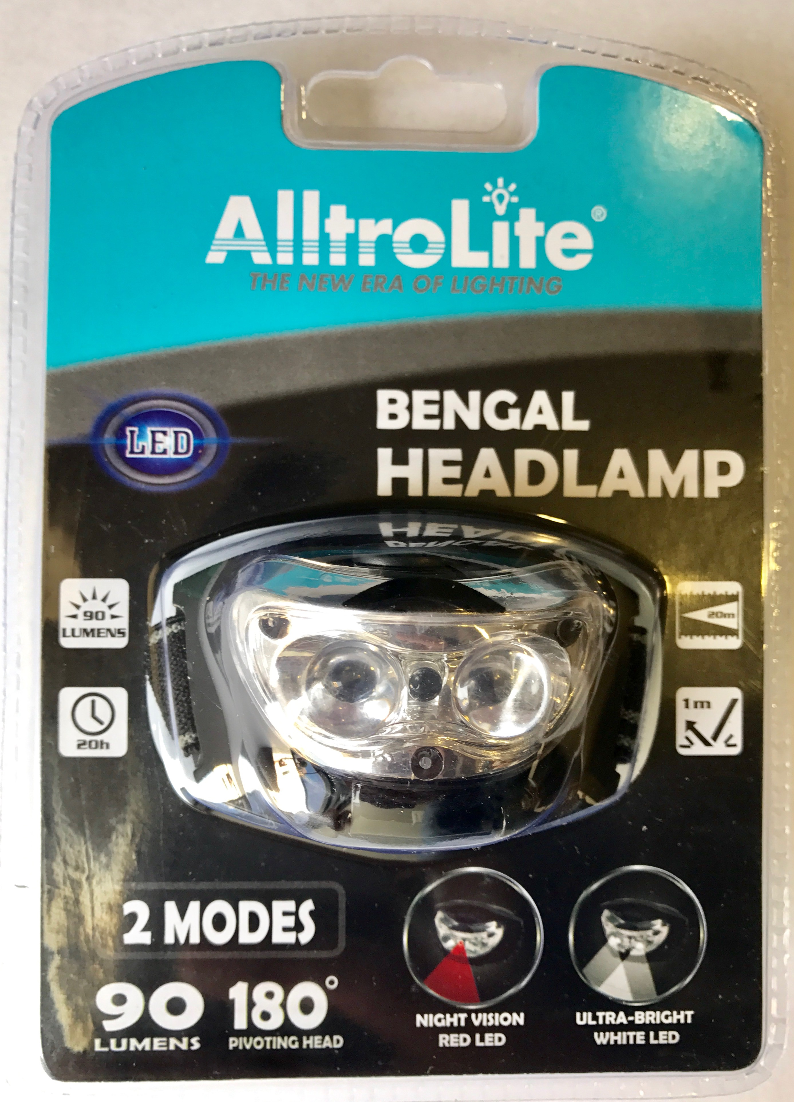 Headlamp (2 White+1 Red LED) AF3039