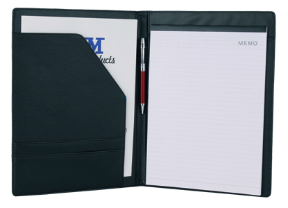 Leatherette Padfolio with /Interior Pockets and Notepad 2001KH