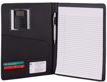 Leatherette Padfolio with Calculator (AH.2002)