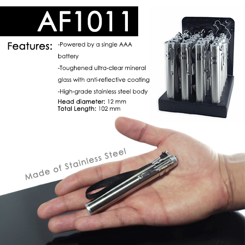 Stainless Steel Keychain Flashlight (AF1011)