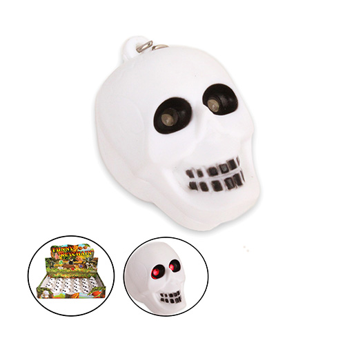 LED Skull Keychain with Sound AN2035