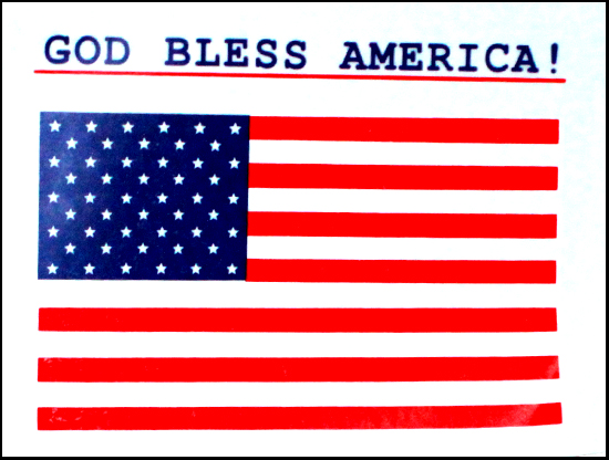 """God Bless America"" Car Decal"