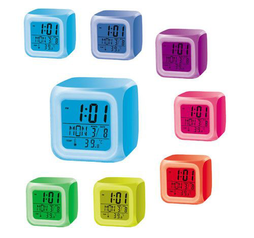 Light Up LCD Sqaure Clock (CL.LCD.Square)