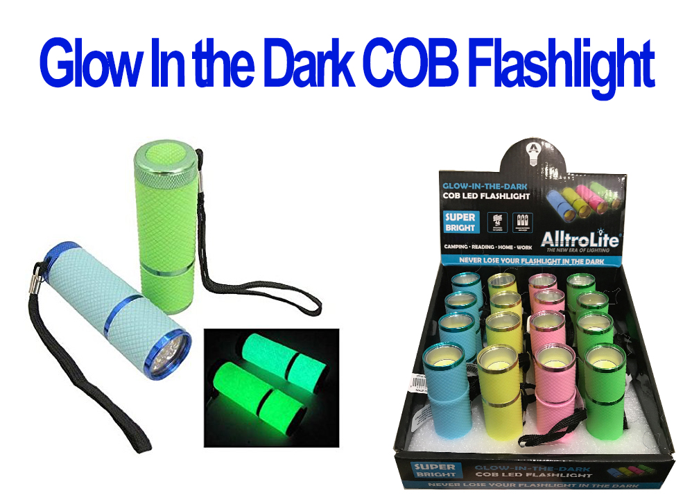 Glow In the Dark COB Light With Lanyard