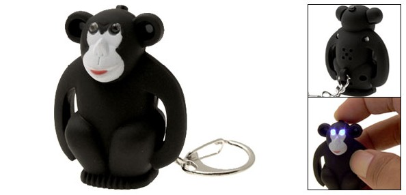 LED Keychain Black Gorilla (NA2043)