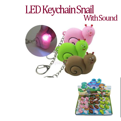 LED Snail Keychain with sound (AN2020)